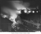 Fire at Corner Market Building, Pike Place Market, Seattle, 1941