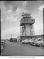 Boeing Field control tower under construction, Seattle, 1961