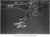 Aerial of Lake Washington Shipyards from west, Houghton, May 20, 1933