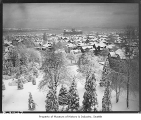 View east from Volunteer Park in winter, Seattle, 1932
