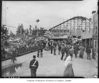 Safety patrol picnic at Playland Amusement Park, Bitter Lake, May 1948