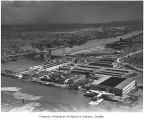 Aerial of Boeing plant looking southeast, Seattle, August 12, 1938