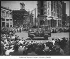 Army jeeps in Independence Day parade, Seattle, July 4, 1940