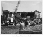 Building demolition on site of Seattle World's Fair, ca. 1961
