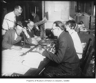 Seattle Post-Intelligencer radio broadcast of election results, Seattle, 1928