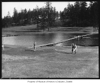 Golfers on Seattle Golf Club course, The Highlands, ca. 1925