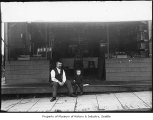 Refreshment stand on streetcar line, Seattle, ca. 1910