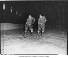 Seattle Ironmen players Bill Boorman and Paul Mundrick, Seattle, October 6, 1949