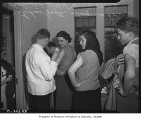 University of Washington students receiving smallpox vaccinations, Seattle, February 27, 1946