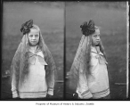 Girl in double negative, Seattle, ca. 1910