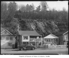 Landslide behind Alki Avenue homes, Seattle, 1948