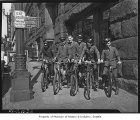 Western Union messengers on bicycles, Seattle, 1937