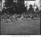 Girls racing at West Seattle Commercial Club annual picnic, Seattle, 1949