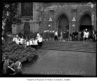 Procession entering St. Mark's Cathedral, Seattle, 1938