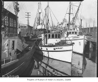 Fishing boats docked at Fishermen's Terminal, Seattle, 1938