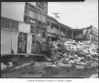 Earthquake damage to  warehouse, Seattle, 1949