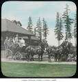 Group riding in carriage at Willowmoor Farm, Redmond, n.d.