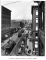 Pike Street east from Second Avenue, Seattle, ca. 1909