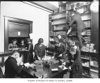 West Seattle High School book room, Seattle, ca. 1921