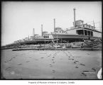 Steamships being built at Moran Brothers shipyard, Seattle, 1898