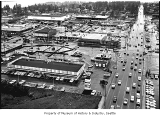 Aerial of downtown Bellevue from east, 1967