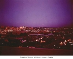 Seattle World's Fair site at dusk, ca. 1961