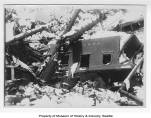 Wreckage of train car 8201 after Wellington avalanche, March 1910