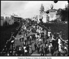 Crowds on Pay Streak showing Battle of Gettysburg building, Alaska-Yukon-Pacific Exposition,...