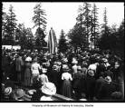 Unveiling of William Henry Seward statue showing speaker and crowd, Alaska-Yukon-Pacific...