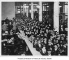 Crowd inside Washington Mutual Savings Bank on opening day, June, 20, 1921