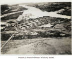 Aerial view of Boeing Airplane Company plant on the Duwamish River, April 26, 1929