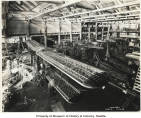 Airplane assembly at Boeing Airplane Company plant, July 23, 1929