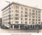Bush Hotel, corner of Jackson Street and Maynard Avenue, Seattle, circa 1925
