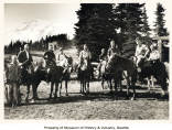 Search and rescue team on horseback, Mount Rainier National Park, July 7, 1931