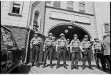 Police guarding building during Black Student Union (BSU) and Students for a Democratic Society...