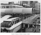 Monorail at Westlake Station, Seattle World's Fair, 1962