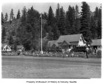 Buildings at a Washington State Civilian Conservation Corp camp, August 1939