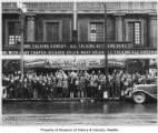 Crowd in front of Colonial Theatre, Seattle, ca. 1929