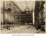 Wooden support structure during construction of West Spokane Street Bridge, Seattle, September 25,...