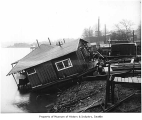 Houseboat damage at Lake Union, Seattle, 1915