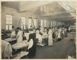 Women pressing clothes at Supply Laundry Company, Seattle, 1917