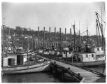 Fishing boats docked on Seattle's waterfront, 1938