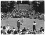A majorette performing during the annual Seattle Times-Park Board Fun Frolic, Woodland Park,...