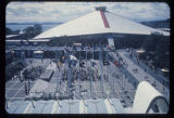 Bird's eye view of the Plaza of the States and the Washington State Coliseum, Seattle World's...