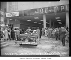 Opening of Olympic Hotel's University Street entrance, Seattle, August 27, 1957