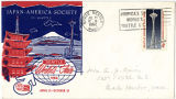 Seattle World's Fair envelope featuring an illustration representing the Japan-America Society of...