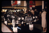 A Jaguar automobile in the British Pavilion, Seattle World's Fair, 1962