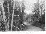 Magnolia Bluff bicycle path, Seattle, ca. 1898