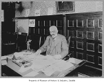 Jacob Furth at his desk, Seattle, ca. 1900