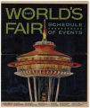Schedule of Events for the Seattle World's Fair, March 1962